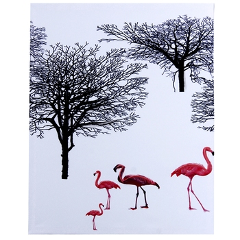 Swans in Ice Natural Canvas Painting
