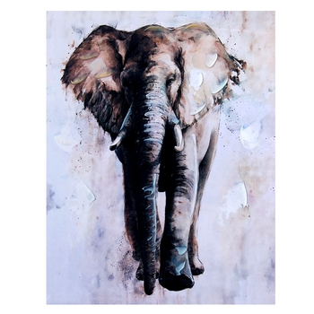 Canvas Elephant Portrait Wall Painting