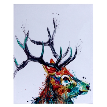 Sharp Horn Stag Canvas Painting
