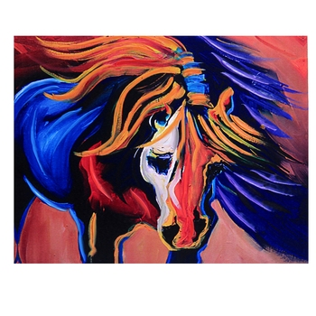 Multicolor Deep Shades Horse Canvas Painting