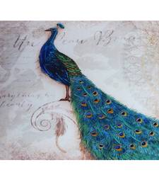 Buy Shinny Bue Shade Peacock Canvas Painting painting online