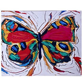 Color Splash Butterfly Canvas Painting