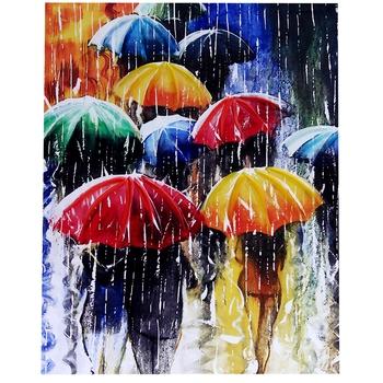 Wonderful Rainy Season Portrait Canvas Painting