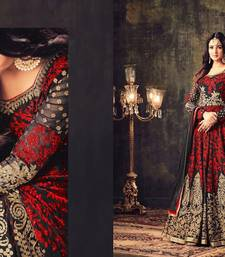 Buy Red diamond work georgette salwar wedding-salwar-kameez online