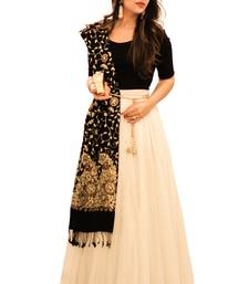Buy  Designer White and Black Georgette Lehenga choli lehenga-choli online