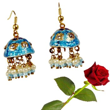 Rajasthani Lacquer Jhumka Ear Ring Valentine Gift