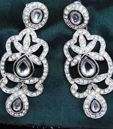 DIAMOND KUNDAN DANGLER EARRINGS