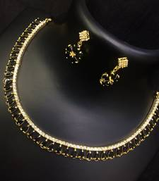 Buy Black ruby chokers necklace-set online