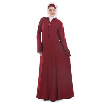 Maroon Challenger Islamic Look Arabian Style Daily Wear For Women Long Abaya