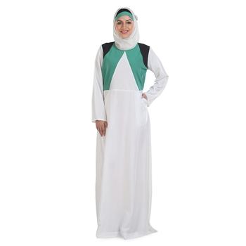 White Crepe Islamic Look Arabian Style Daily Wear For Women Long Abaya