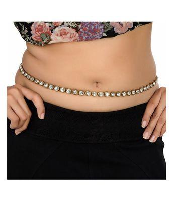 Hot Waist Belt Belly Body American Diamond Adjustable Chain Jewelry