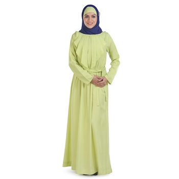 Yellow Crepe Islamic Look Arabian Style Daily Wear For Women Long Abaya