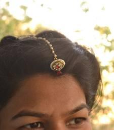 Designer Wedding Bridal Pearl Kundan Diamond Maang Tikka