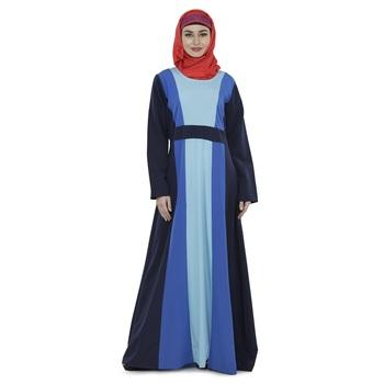 Multicolor Polyester Islamic Look Arabian Style Daily Wear For Women Long Abaya