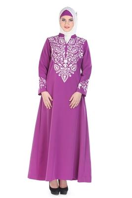 Magenta Kashibo Daily Wear Islamic Look Arabian Style For Women Long Abaya
