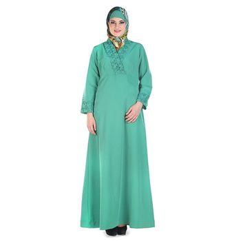 Green Kashibo Daily Wear Islamic Look Arabian Style For Women Long Abaya