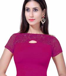 Gargi Short Sleeve  Stretchable Blouse In Fancy Net Styling on Front