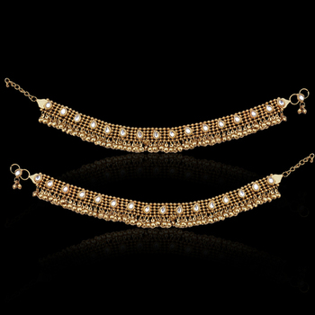 Gold Pearl anklets
