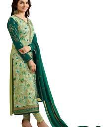 Buy Green brasso georgette salwar festive-salwar-suit online