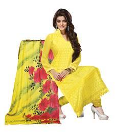 Buy Yellow embroidered georgette salwar wedding-salwar-kameez online