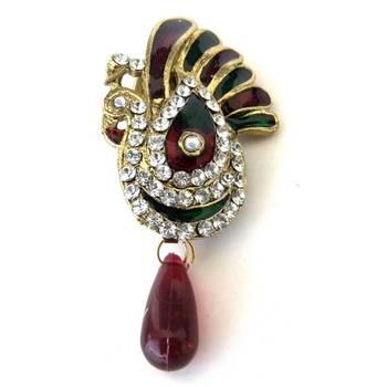 Peacock Saree-Pin/JW-670