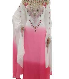 Buy Multicolor georgette zari work stones and beads embellished islamic style arabian look party wear farasha farasha online