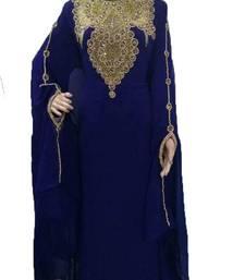 Buy Blue georgette zari work stones and beads embellished islamic style arabian look party wear farasha farasha online