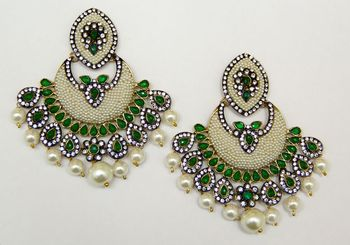 Pearl Chand Bali Chandelier Earrings