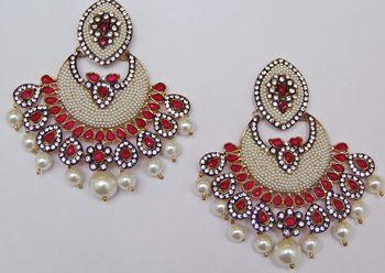 Pearl Chand Bali Chandelier Earrings