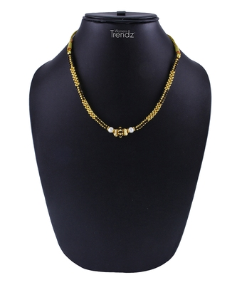 Traditional Handmade Gold And Black Crystal Jewellery Haar/Necklace For Women And Girls