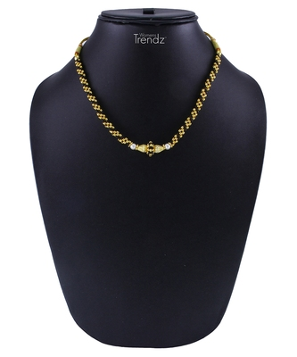 Traditional Handmade Black Crystal Jewellery Haar/Necklace for Women and Girls