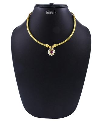 Traditional Handmade Gold Plated Thushi/Haar Jewellery Necklace for Womens and Girls