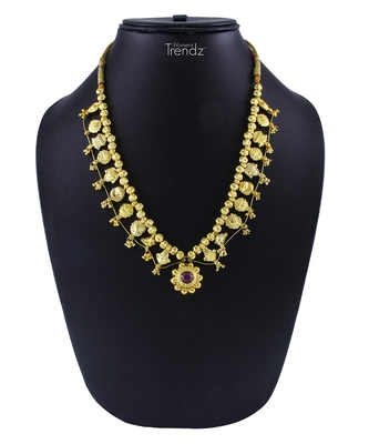 Traditional Handmade Kolhapuri Saaj Jewelley 24K Gold Plated Alloy Necklace For Women And Girls