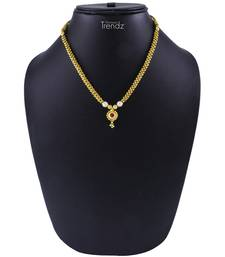 Buy Traditional Handmade Gold Plated Jewellery Red Crystal Pendal Alloy Necklace for Womens women-ethnic-wear online