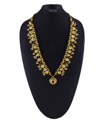 Traditional Handmade Kolhapuri Saaj Jewelley 24K Gold Plated Alloy Necklace/Haar For Women And Girls