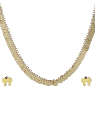 Traditional Handmade Gold Plated Jewellery Long Potli Haar Necklace And Earring Set For Women And Girls
