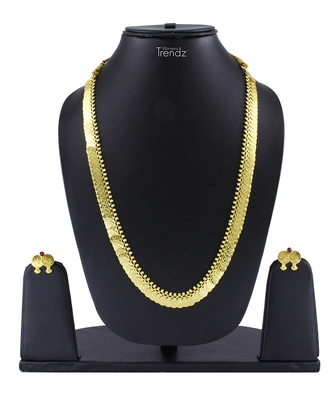 Traditional Handmade Jewellery Gold Plated Potli Haar Necklace/Haar And Earring Set For Women And Girls