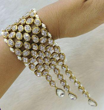 Charming Jewelry CZ Pearl Kundan Bracelet Bangle 1pc - Charming Jewelry -  2563008 0987ea791125