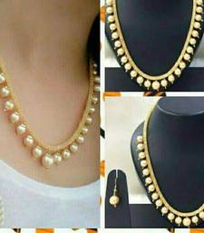 Charming Jewelry Pearl CZ  Necklace Earrings Set