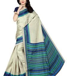 Buy Blue printed manipuri silk saree with blouse manipuri-silk-saree online