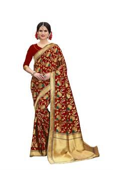 e5cfbbd7794ef7 Banarasi Silk Sarees - Buy Pure Designer Banarasi Silk Saree Online