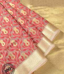 Cream Woven Banarasi Silk saree with blouse banarasi-silk-saree