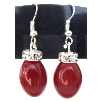 Red drop Earrings/JW-682R