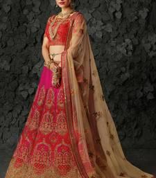 Buy Pink silk heavy embroidery bridal lehenga with dupatta bridal-lehenga online