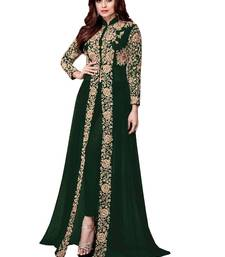 Buy Green embroidered faux georgette salwar ethnic-suit online