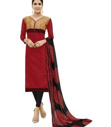 Buy Red embroidered cotton salwar