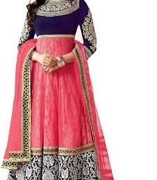 Buy Multicolor embroidered net salwar wedding-salwar-kameez online