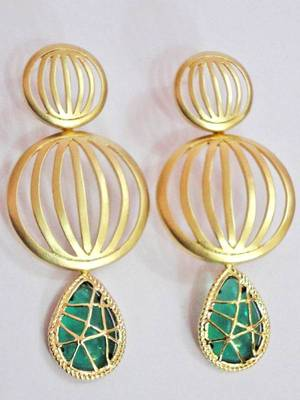 Matt Golden Stylish earrings