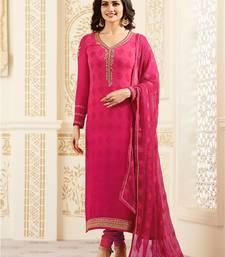 Buy Pink embroidered georgette salwar festive-salwar-suit online