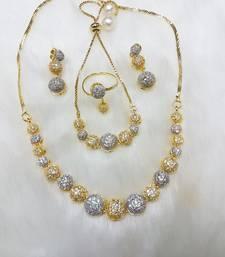 Buy Silver diamond jewellery-combo women-ethnic-wear online
